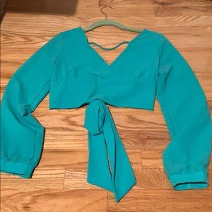Tie blouse
